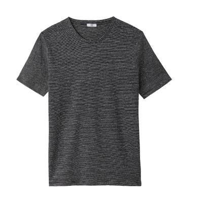 T-shirt a righe scollo rotondo in lino La Redoute Collections