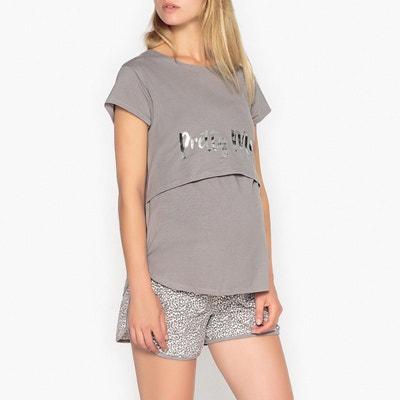 Pyjashort grossesse et allaitement La Redoute Collections