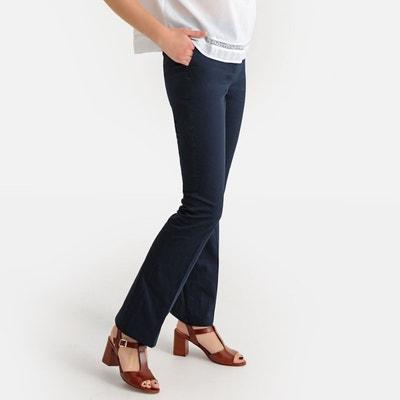 Pantalon bootcut en satin de coton stretch Pantalon bootcut en satin de  coton stretch LA REDOUTE dfecb125fc53