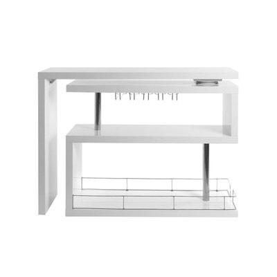 Bar design laqué blanc amovible MAX Bar design laqué blanc amovible MAX MILIBOO