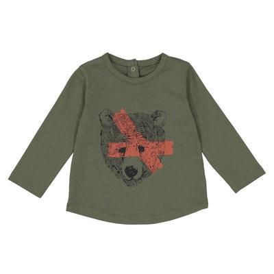 T-shirt manches longues motif ours 1 mois - 3 ans La Redoute Collections
