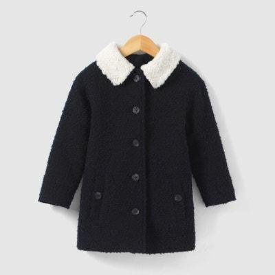 Long Bouclé Coat, 3-12 Years La Redoute Collections