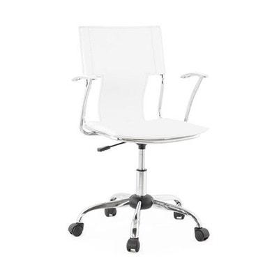 Chaise De Bureau Blanc Et Mtal Mobile DECLIKDECO