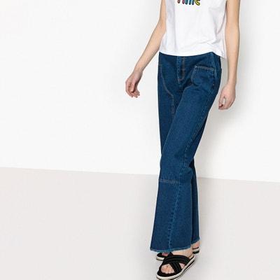 Pantalón ancho con bajo sin remate La Redoute Collections