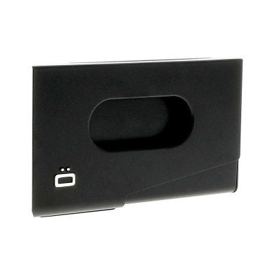 Porte Carte De Visite Alu Noir Ogon Design One Touch