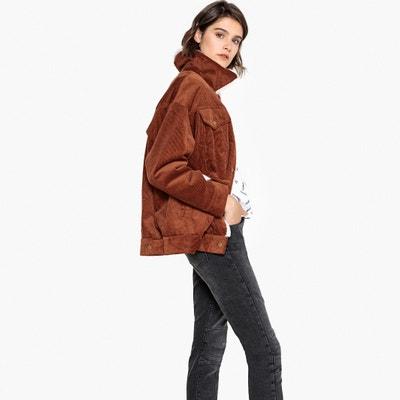 Faux Fur Lined Corduroy Jacket Faux Fur Lined Corduroy Jacket La Redoute Collections