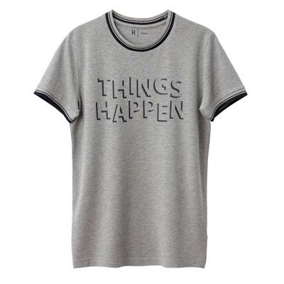 T-shirt scollo rotondo fantasia maglia piqué La Redoute Collections