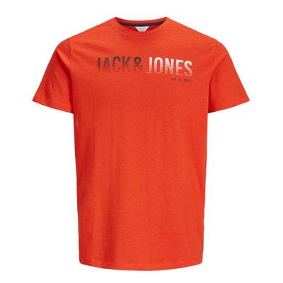 T-shirt met ronde hals en motief vooraan, Jcolinn JACK & JONES