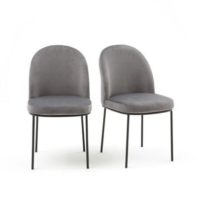 chaise rembourre en velours lot de 2 topim chaise rembourre en velours - Chaise En Tissu Gris