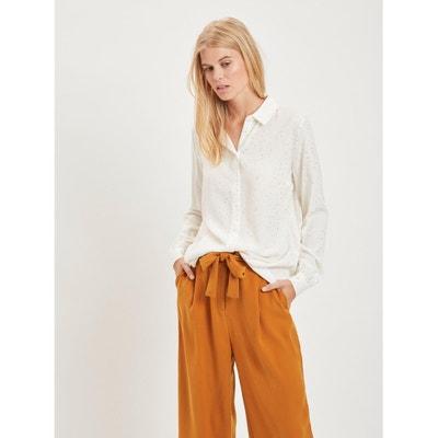 Bluse mit goldfarbenen Tupfen, langärmelig Bluse mit goldfarbenen Tupfen, langärmelig VILA