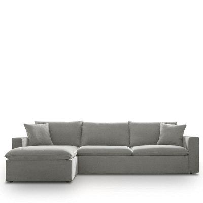 Canapé d'angle gauche tissu Mac DRAWER
