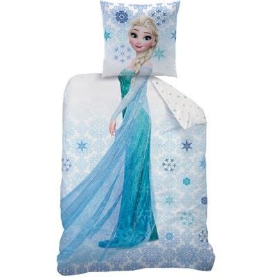Bedrukte bedset in zuiver katoen Frozen Ice Bedrukte bedset in zuiver katoen Frozen Ice LA REINE DES NEIGES