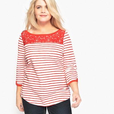 Breton Laced Cotton T-Shirt CASTALUNA