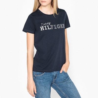 Tee shirt col rond manches courtes motif appliqué TOMMY HILFIGER