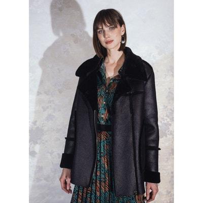 Manteau en fausse peau lainée LA FEE MARABOUTEE