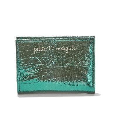 Kreditkarten-Portemonnaie CRUSH BOLD CRACKED im Metallic-Design Kreditkarten-Portemonnaie CRUSH BOLD CRACKED im Metallic-Design PETITE MENDIGOTE
