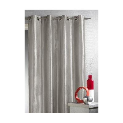 rideaux gris argente en solde la redoute. Black Bedroom Furniture Sets. Home Design Ideas