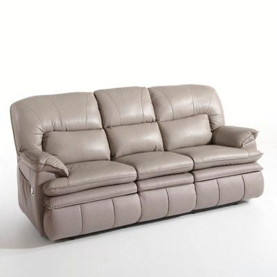canape cuir vieilli marron en solde la redoute. Black Bedroom Furniture Sets. Home Design Ideas