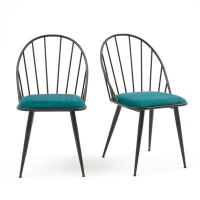 Confezione da 2 sedie in velluto con barre RODOLFE Confezione da 2 sedie in velluto con barre RODOLFE La Redoute Interieurs