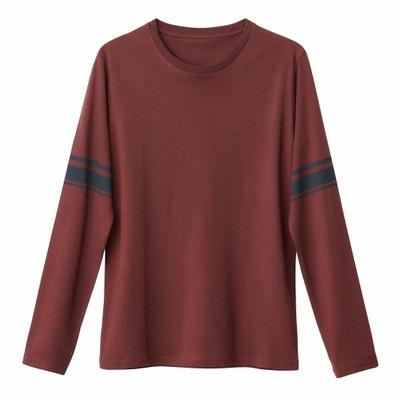 T-shirt met ronde hals en lange mouwen La Redoute Collections