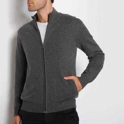 Gilet cerniera collo alto 100% lana lambswool La Redoute Collections