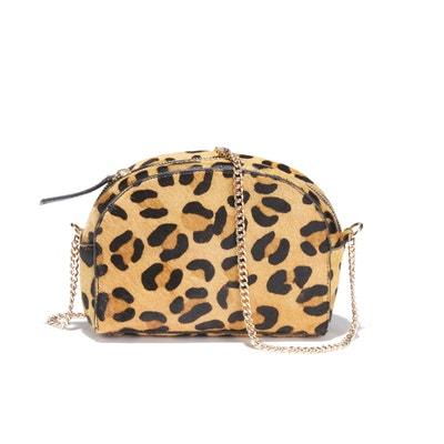 Tasche LUNE HAIR ON mit Leopardenmuster, Rindsleder Tasche LUNE HAIR ON mit Leopardenmuster, Rindsleder PETITE MENDIGOTE
