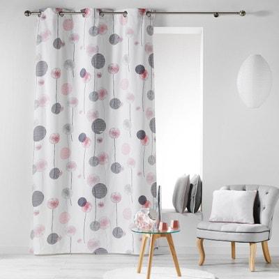rideau rose et gris en solde la redoute. Black Bedroom Furniture Sets. Home Design Ideas