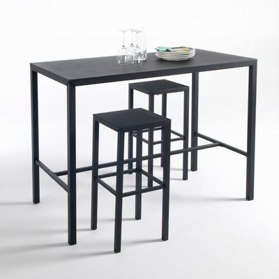 Table haute mange-debout métal perforé, Choe La Redoute Interieurs