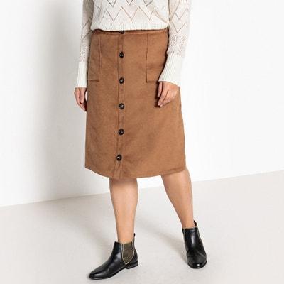 Faux Suede Buttoned Skirt Faux Suede Buttoned Skirt CASTALUNA