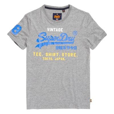 T-shirt de gola redonda, mangas curtas, estampado à frente SUPERDRY