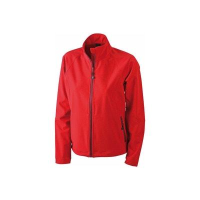 Veste softshell femme rouge