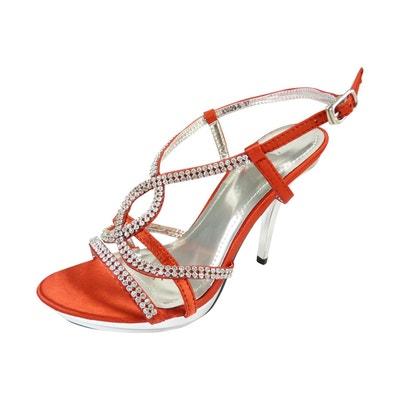 Chaussures de mariage ouvertes à talons hauts et strass Chaussures de mariage ouvertes à talons hauts et strass CHAUSSMARO