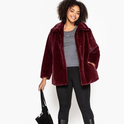 Manteau court en imitation fourrure couleur Manteau court en imitation fourrure couleur CASTALUNA