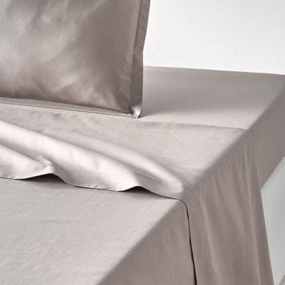 Plain 100% Cotton Percale Flat Sheet La Redoute Interieurs