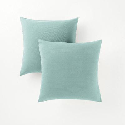 housse coussin bleu canard la redoute. Black Bedroom Furniture Sets. Home Design Ideas