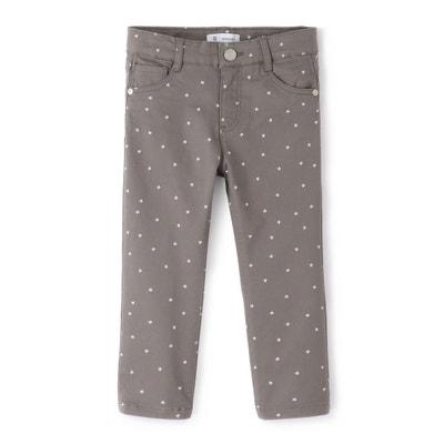 Pantalón pesquero slim con estampado de ''estrellas'' 3-12 años La Redoute Collections