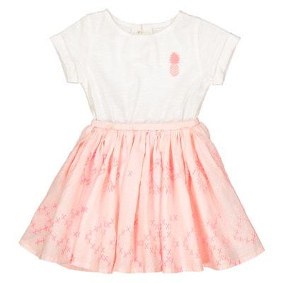 Kleid aus Materialmix, 1 Monat - 3 Jahre La Redoute Collections