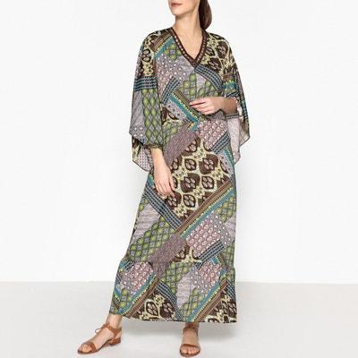 Платье с V-образным вырезом и рукавами-кимоно CAMELIA Платье с V-образным вырезом и рукавами-кимоно CAMELIA VALERIE KHALFON