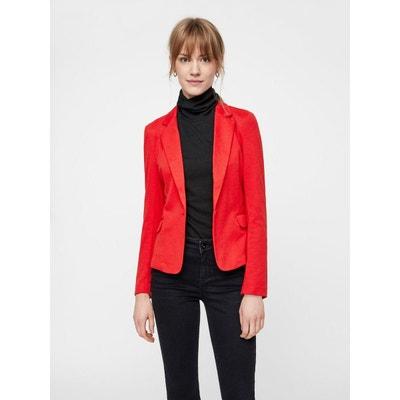 Veste tailleur rouge en solde   La Redoute e041223a1538