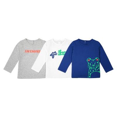 Lote de 3 camisolas de mangas compridas - 1 mês - 3 anos La Redoute Collections