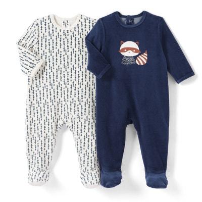 Lote de 2 pijamas, 0 mês-3 anos La Redoute Collections