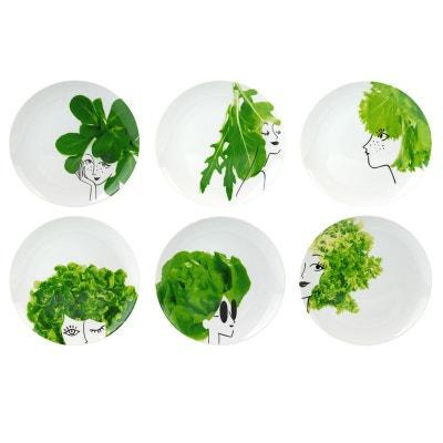 Coffret de 6 assiettes Les Petites Salades Coffret de 6 assiettes Les Petites Salades LA CHAISE LONGUE