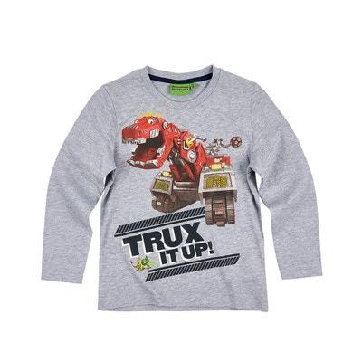 fa8d88cec239 Dinotrux Tee-shirt Manches Longues Garçon DINOTRUX