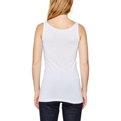 Plain Sleeveless Round Neck Vest Top ESPRIT