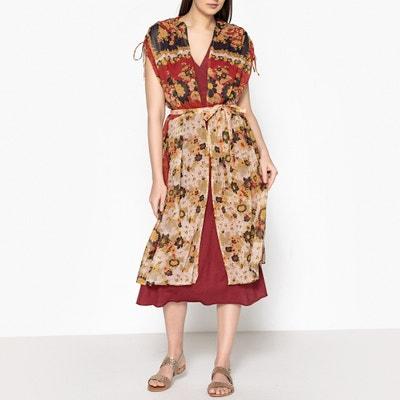 Kimono long imprimé sans manches MACHU Kimono long imprimé sans manches MACHU MES DEMOISELLES