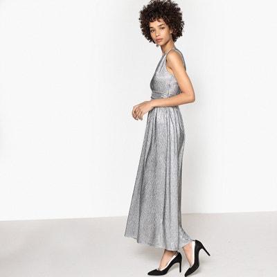 Long V-Neck Shimmer Dress MADEMOISELLE R