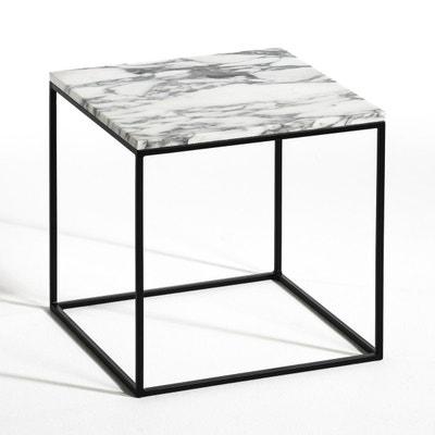 Bout de canapé métal noir et marbre, Mahaut AM.PM