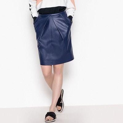 Jupe cuir bleu en solde   La Redoute df3cade050b7
