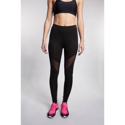 Legging de sport bi-color empiècement résille BODYSKULT