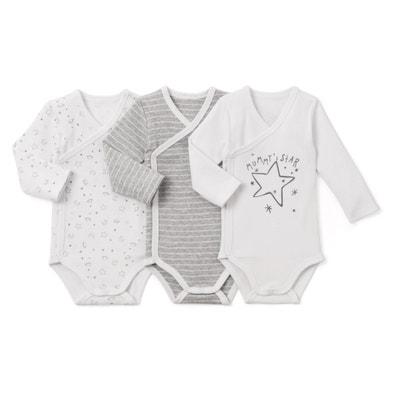 Lote de 3 bodies em algodão, prematuro – 3 anos Lote de 3 bodies em algodão, prematuro – 3 anos La Redoute Collections